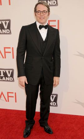 A dapper Matthew Broderick arrives - AFI Life Achievement Award Picture