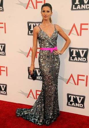 Supermodel Gisele Bundchen makes a - AFI Life Achievement Award Picture