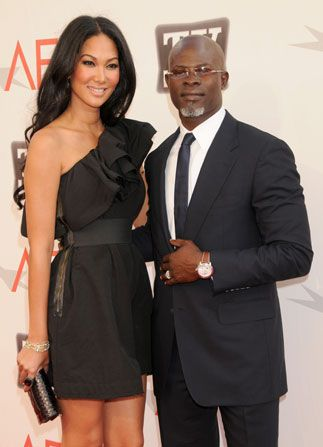 Amistad' co-star Djimon Hounsou arrives - AFI Life Achievement Award Picture