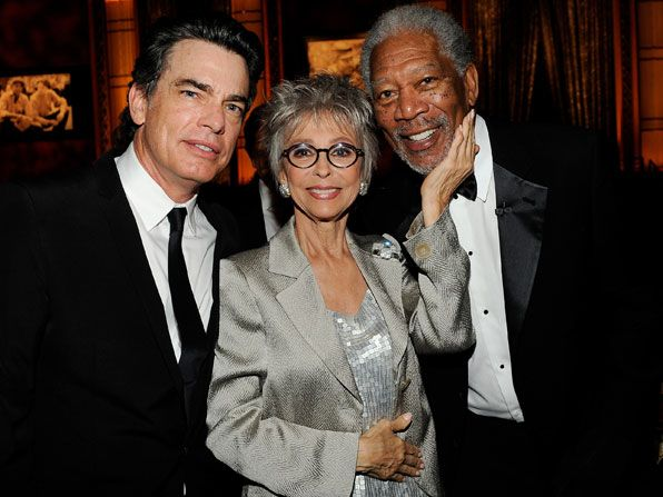 Morgan Freeman with Peter Gallagher - AFI Life Achievement Award Picture