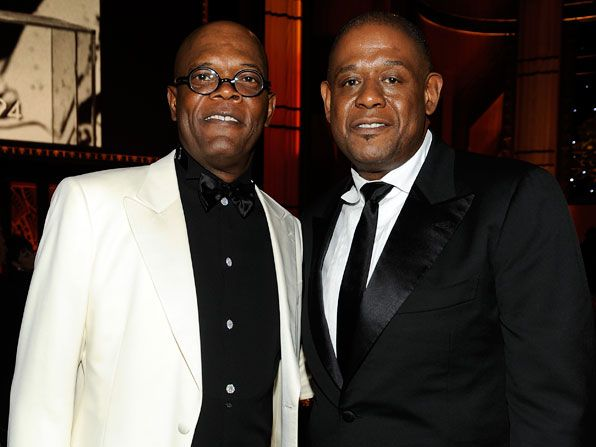 Samuel L Jackson and Forest - AFI Life Achievement Award Picture
