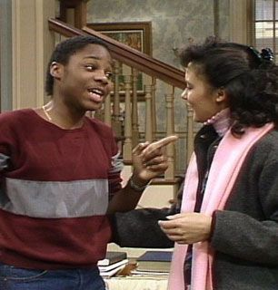 Theo Huxtable Malcolm Jamal-Warner points - The Cosby Show Picture