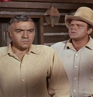 Hoss and Ben seem perplexed - Bonanza Picture