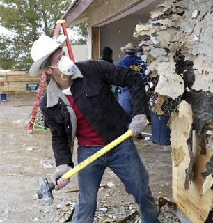 The walls come tumblin&amp;#039; down - Extreme Makeover: Home Edition Picture