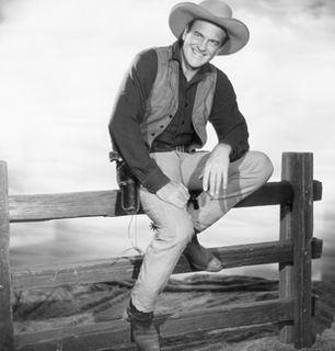 Matt poses on a fence - Gunsmoke Picture