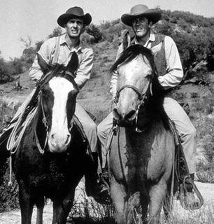 The Gunsmoke men on horseback - Gunsmoke Picture