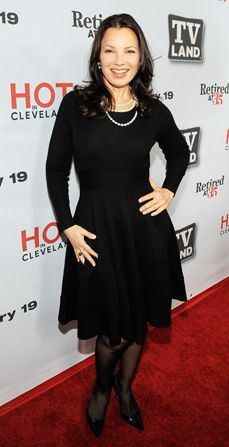 Fran arrives for the premiere - Happily Divorced Picture