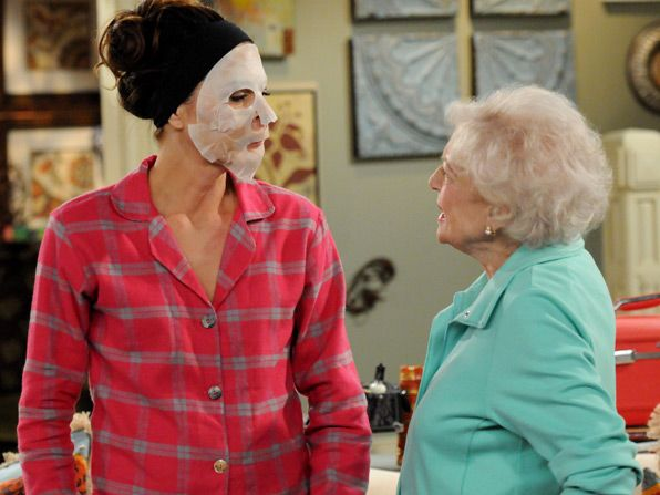 To comfort herself about not - Hot in Cleveland Picture