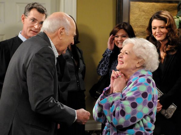Elka Betty White is elated - Hot in Cleveland Picture