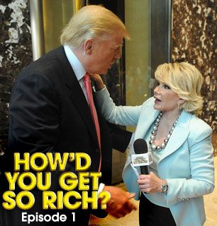 Joan Rivers asks her Celebrity - How'd You Get So Rich? Picture