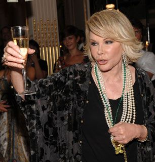 Joan Rivers toasts to a - How'd You Get So Rich? Picture