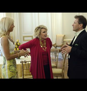 The Herjavecs greet their houseguest - How'd You Get So Rich? Picture