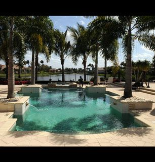 The pool at Allen's Florida - How'd You Get So Rich? Picture