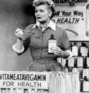 Lucy hawks Vitameatavegamin for a - I Love Lucy Picture