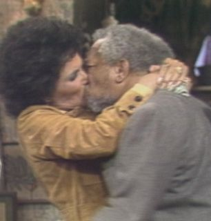 Lena Horne plants a kiss - Sanford and Son Picture