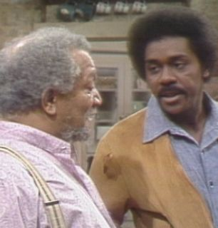 Lamont Demond Wilson talks with - Sanford and Son Picture