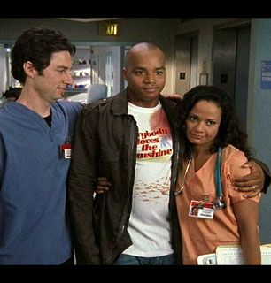 Jordan and Dr Cox fondly - Scrubs Picture