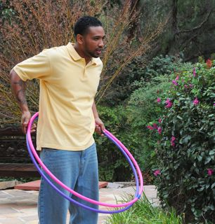 Real men hula hoop Go - The Cougar Picture