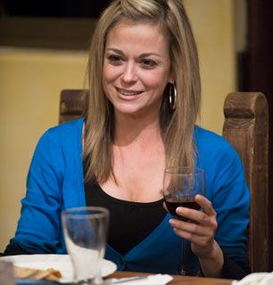 Cheers everybody Stacey enjoys dinner - The Cougar Picture