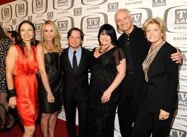The 'Family Ties' cast catches - TV Land Awards Picture