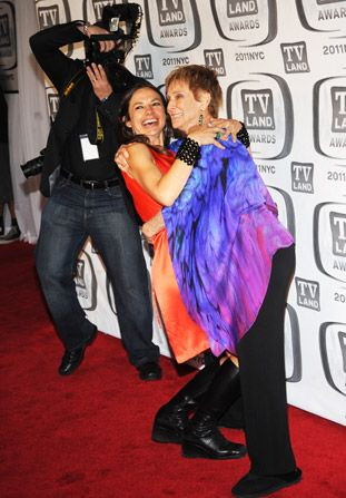 Cloris Leachman dips Justine Bateman - TV Land Awards Picture