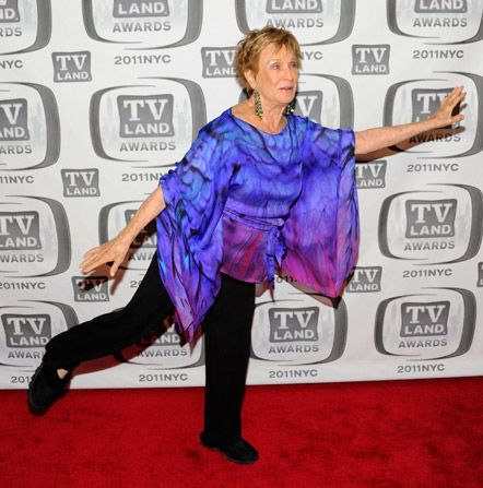 Cloris Leachman shows off her - TV Land Awards Picture